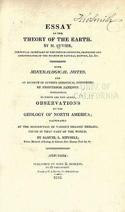 Essay on the theory of the earth cuvier